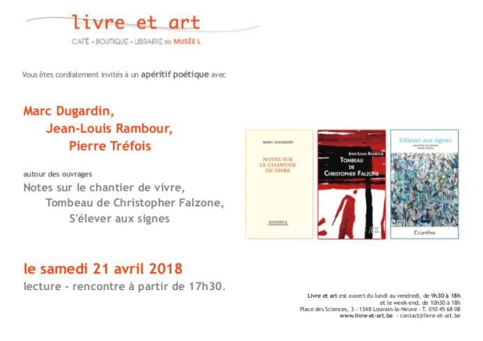Invitation Apéritif poétique avril 2018